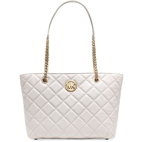 Michael Kors Fulton Quilted michael kors fulton quilted large east west tote in white vanilla lyst