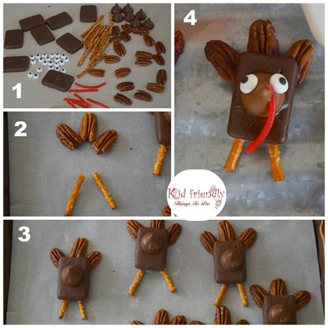 easy thanksgiving food crafts for chocolate caramel turkey treats for a thanksgiving