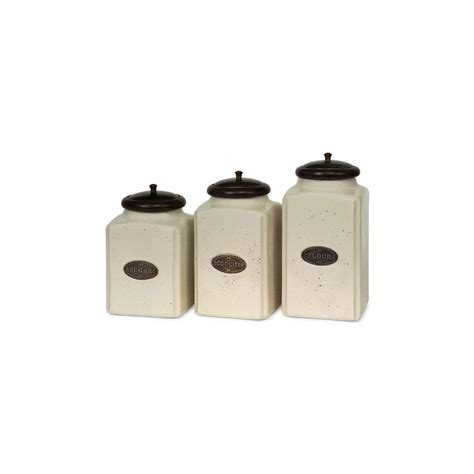 ivory and black kitchen canisters set of 4 canister imax ivory ceramic canisters set of 3 5358 3 the home