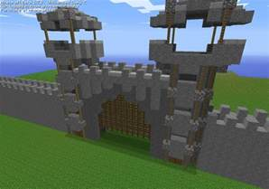 cobblestone castle entrance minecraft project