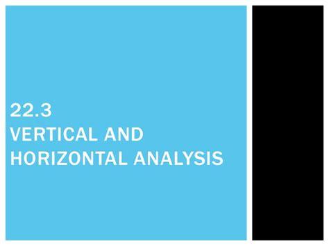 vertical and horizontal h007 jpg 22 3 vertical and horizontal analysis