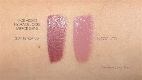 addict lipstick hydra gel mirror shine in incognito and sophisticated colors