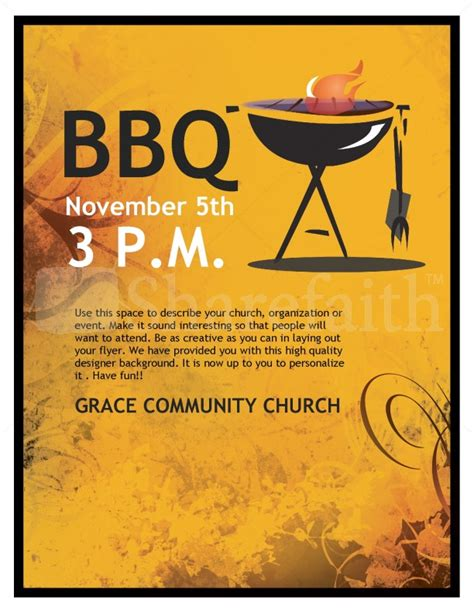 templates for bbq flyers bbq church flyer template flyer templates