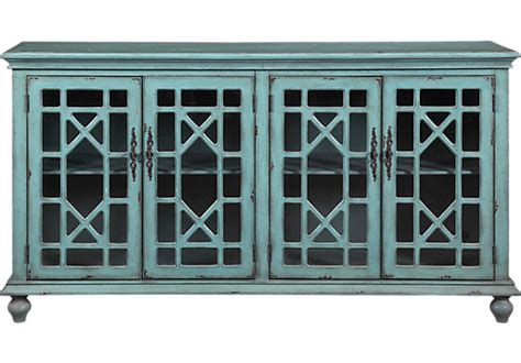 Accent Console Cabinet by Swansboro Blue Accent Console Accent Cabinets