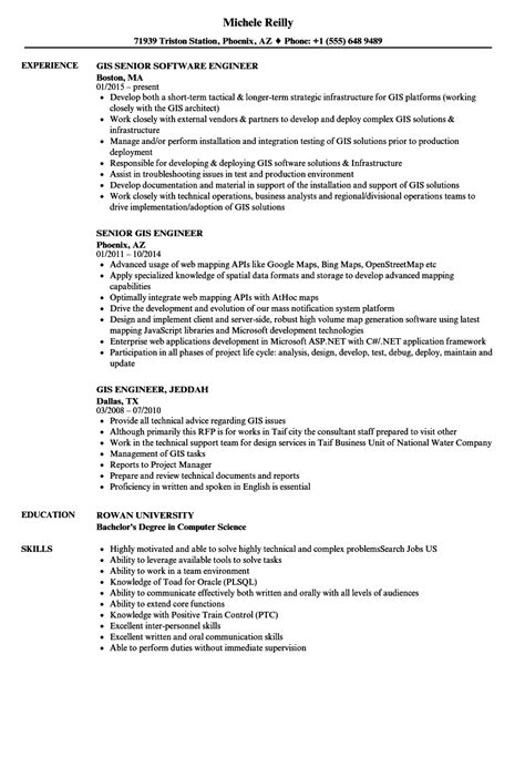 gis resume format gis engineer resume sles velvet