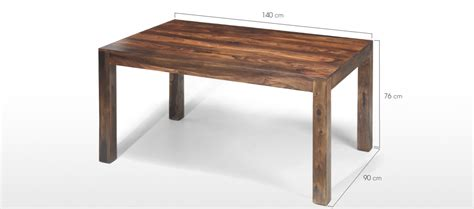 Dining Table Dimensions Cm Cube Sheesham 140 Cm Dining Table Quercus Living