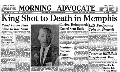 the advocate death section advocate newspaper 0405 1968 martin luther king