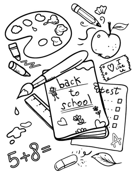 back to school coloring pages free printable back to school coloring page free pdf download