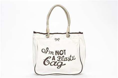 Is Anya Hindmarchs Im Not A Plastic Bag Tote Really Eco Friendly by Anya Hindmarch On Entrepreneurial Journey Fran