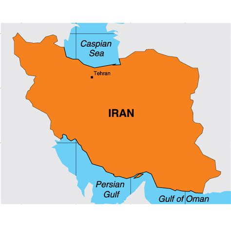 Iran Map Outline by Iran Map Outline Vector
