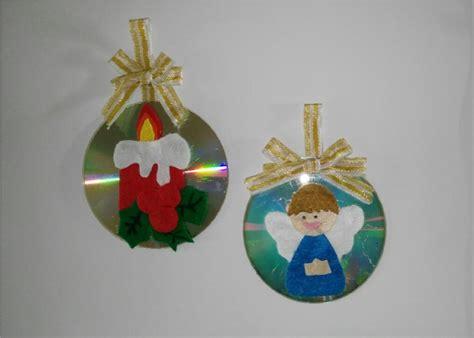 como hacer adornos navide 241 os con cd para el arbol de