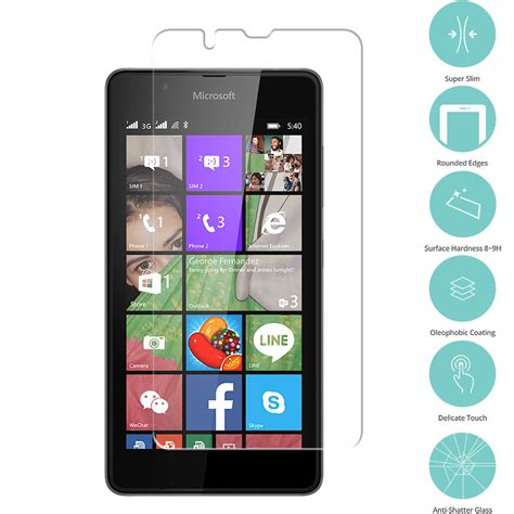 clear tempered glass screen protector clear for nokia microsoft lumia 540 dual