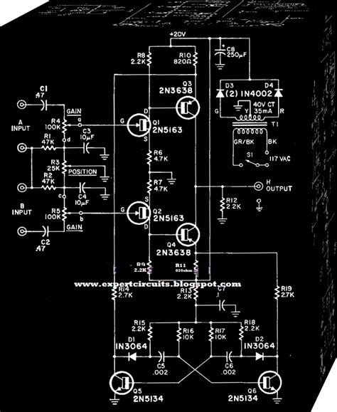 electronics projects simple dual trace scope switch circuit
