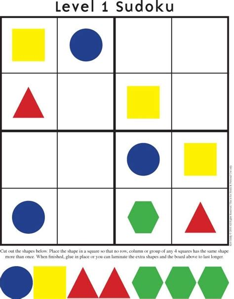 kindergarten pattern blocks printables 1000 images about sudoku kleuters on pinterest