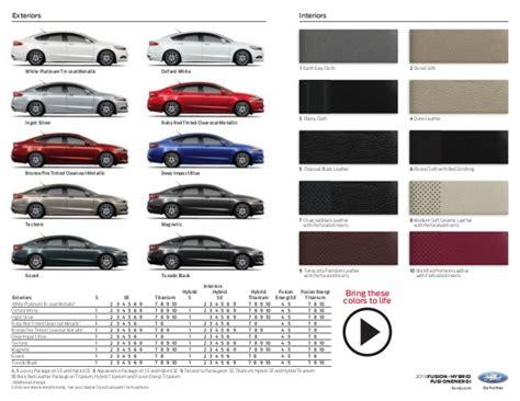 2015 ford fusion colors 2015 ford fusion brochure farmington nm ford dealer