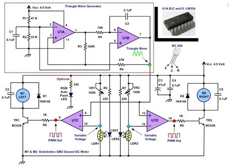 lm324 application circuit diagram circuit diagram 4u line follower robotic with op