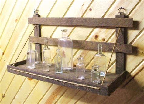 Handmade Shelf - rustic wooden wall shelf primitive handmade of reclaimed