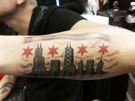 chicago skyline tattoo designs chicago ink piercing and microdermals