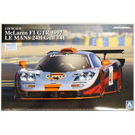 124 Mclaren F1 Gtr 1997 Le Mans 24h aoshima 1 24 mclaren f1 gtr 1997 le mans 24h gulf no 41 07525 up scale hobbies
