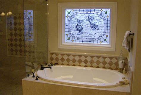 stained glass in bathroom hendricks stained glass nashville tn residential