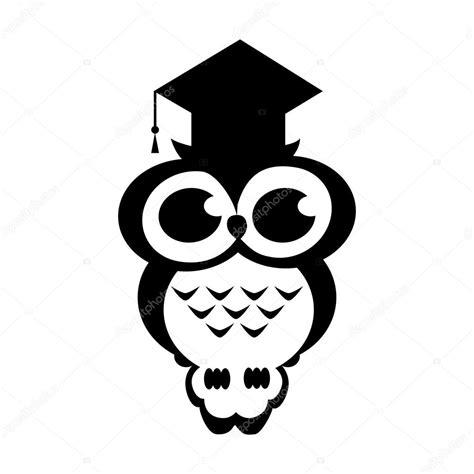 imagenes en blanco y negro de buhos buho de vector acad 233 mico sobre fondo aislado vector de