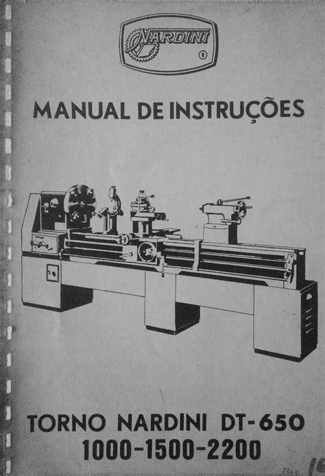 Manual De Instrução Do Torno Nardini Dt-650 - R$ 140,00 em