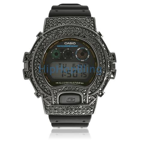 custom g shock all black bling bling custom g