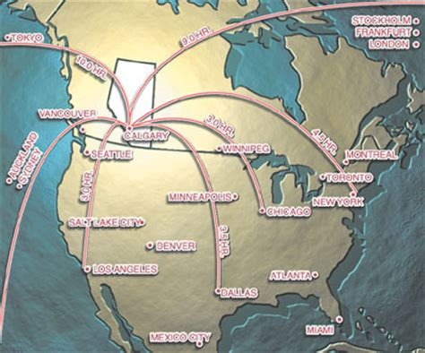 international airports in canada map