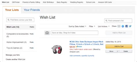 amazon wish list how to create and better manage amazon wish lists