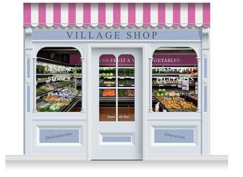 3 Doors Shop by 3 Drop Taunton Shop Front Shop Mural 280cm Door Print