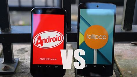 android 5 0 features android 5 0 lollipop vs 4 4 kitkat features comparison