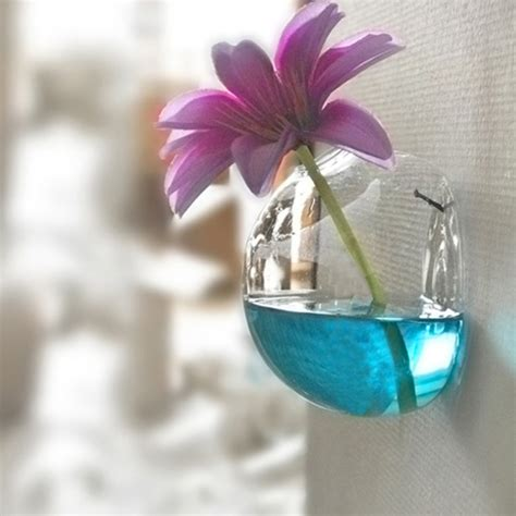 Hanging Glass Flower Vase by 8cm Wall Mounted Hanging Glass Vase Flower Plant