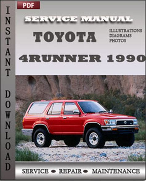 1990 toyota 4runner factory service manual 1990 toyota 4runner factory service manual
