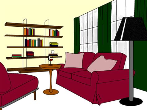 cartoon living room uploaded by user