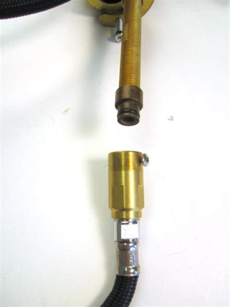 leak at hose and shank adaptor assembly