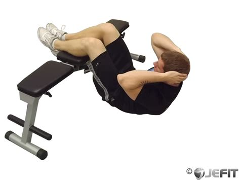 crunches on bench crunches with legs on a bench exercise database jefit