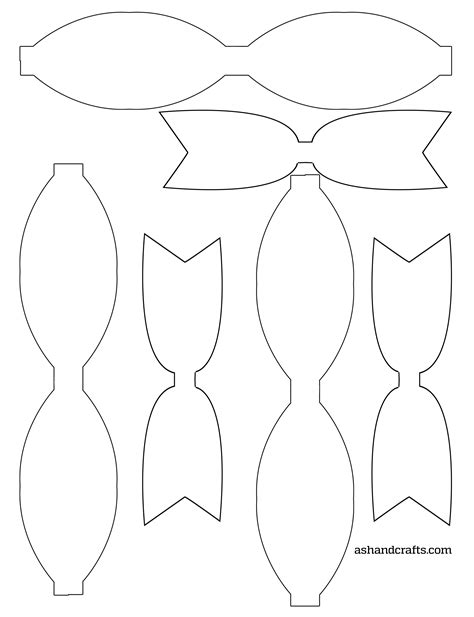 template of a bow freebie friday printable paper bows paper bows