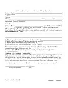 Home Improvement Contract Template by Home Improvement Contract Sle Free