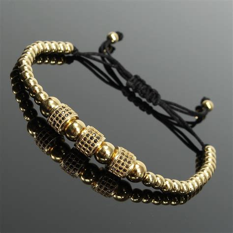Accessories Gold Bracelet beaded macrame gold plated bracelet jewelry gift clothing accessories alex nld