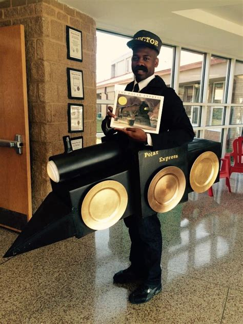 homemade polar express train conductor costume