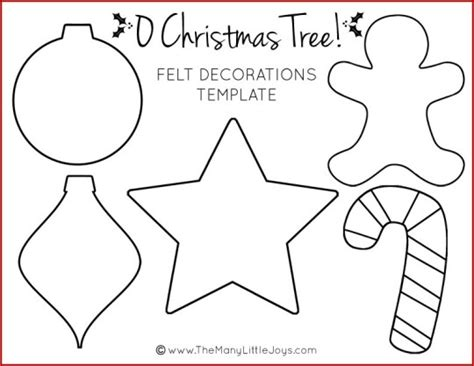 Felt Christmas Tree For Kids With Printable Templates The Many Little Joys Decoration Templates Free Printable
