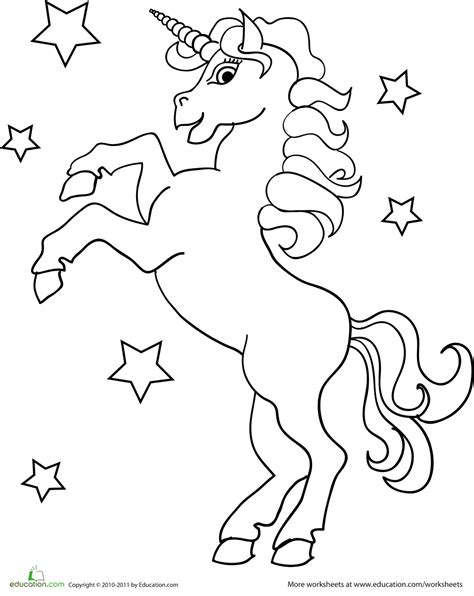 Free Unicorn Maze Coloring Pages Printable Unicorn Coloring Pages