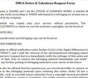 dmca notice template dmca notice template 187 template