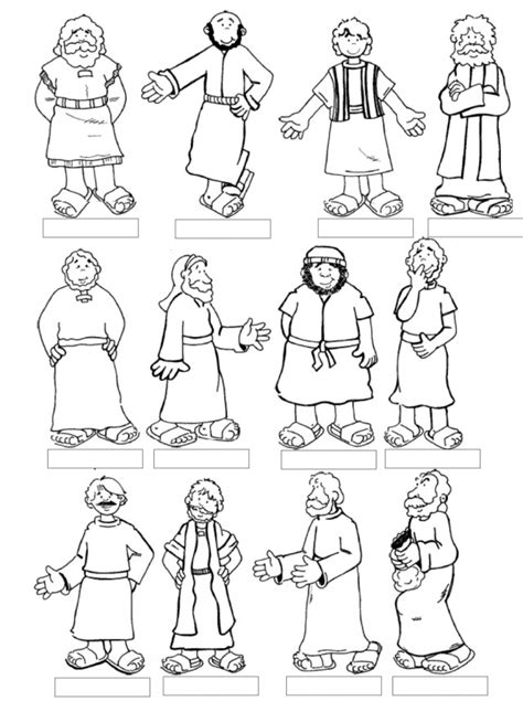 colouring pages jesus and disciples twelve disciples coloring page az coloring pages
