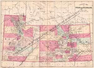 utah colorado map utah state maps