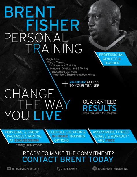 Personal Trainer Flyer Fitness By Fish Brent Fisher Personal Training By Kaitlyn Cook Personal Flyer Template