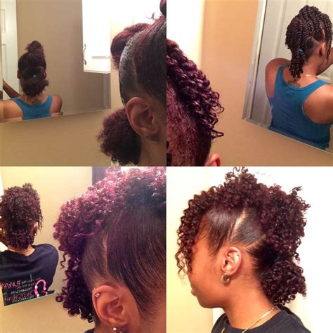 mohawk ponytail with curls 3 ponytail mohawk twist out on natural hair all abt
