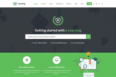 themes wordpress learning learning management system wordpress themes 2017