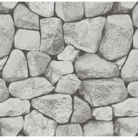 wallpaper wall effect holden stones grey dry stone wall rock brick effect