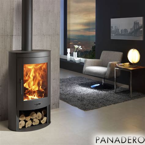 Contemporary Wood Burning Stoves Panadero Oval 11kw Contemporary Wood Burning Stove 163